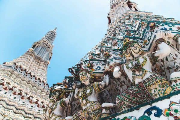 The Statue With Ceramic Decoration At The Pagoda Of Temple Of Dawn, Wat Arun